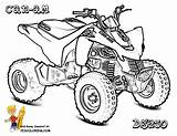Coloring Quad Atv Pages Wheeler Four Am Draw Wheelers Drawing Print Easy Dirtbike Bike Para Colouring Ds Printable Yamaha Yescoloring sketch template