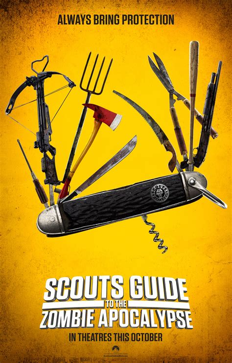 zombie apocalypse scouts guide things poster know save collider guid