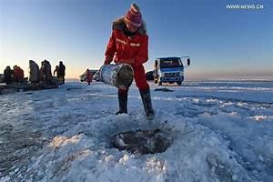 Winter fishing event held on Chagan Lake in NE China (1/17)