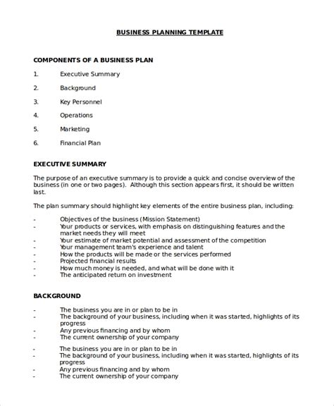 Basic Business Plan Template by 21 Business Plan Sles Ms Word Pdf Docs