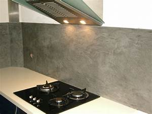 credence ardoise naturelle affordable long plan de With beton cire pour credence cuisine