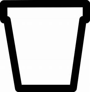 Flower Pot Bw Outline Clip Art at Clker.com - vector clip ...