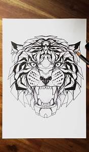 geometric tiger | Tumblr