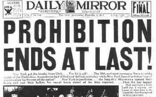 21st Amendment Prohibition