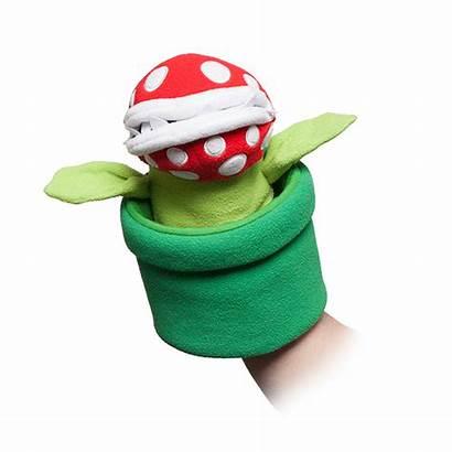 Mario Piranha Plant Puppet Bros Marionnette Peluche