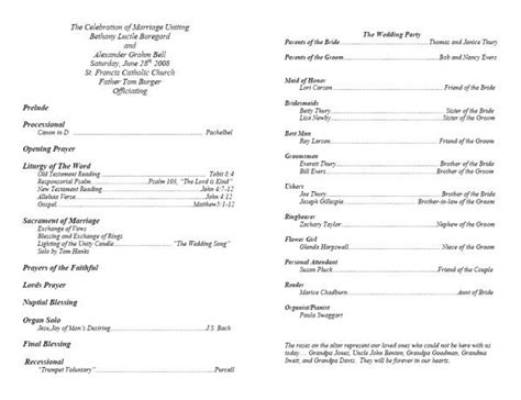 Program Templates by Template For Program Going To The Chapel