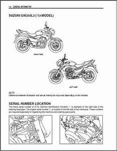 2013 2014 2015 Suzuki Gw250 Inazuma Service Repair Manual