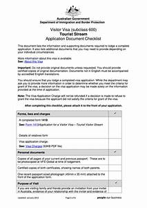top australian visa application form templates free to With document checklist tourist visa australia