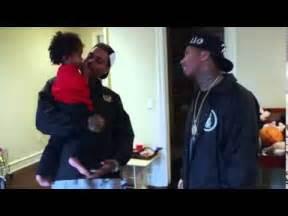Chris Brown Painting King Cairo39s Tyga39s Son Room YouTube