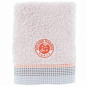 Serviette Carré Blanc : serviette de toilette auteuil roland garros gris carre blanc ~ Teatrodelosmanantiales.com Idées de Décoration