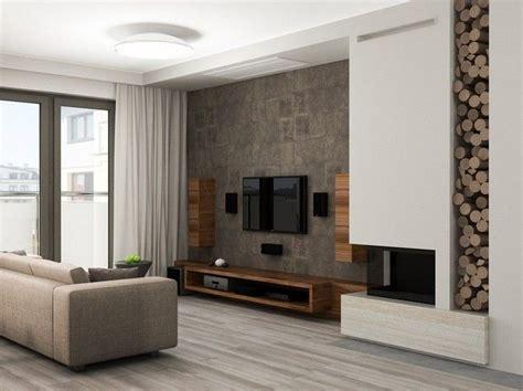 wandgestaltung in steinoptik und tv m 246 bel aus dunklem holz