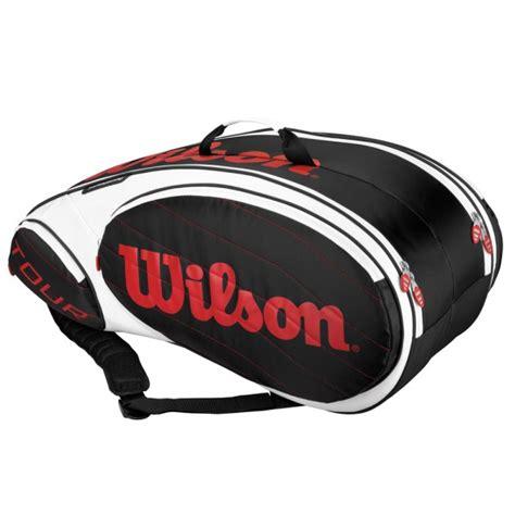 wilson  steam  pack tennis racquet bag blackred  sportitude