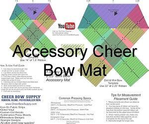 cheer bow template diy cheer bow softball cheer bow template mat