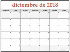 diciembre de 2018 calendario gratis Calendario de