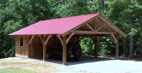 timber frame carports timber frame carport workshop rustic garage and shed