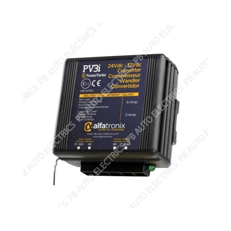 5 x alfatronix powerverter 24vdx to 12vdc isolated 3a 6a pv3i pb auto electrics commercial
