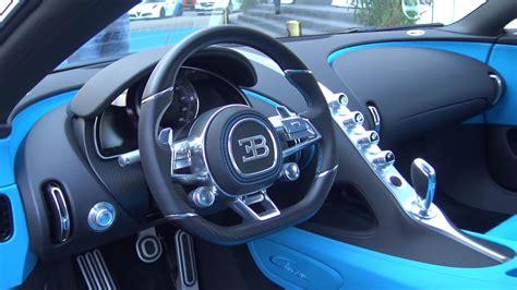 hp bugatti chiron interior view black  blue