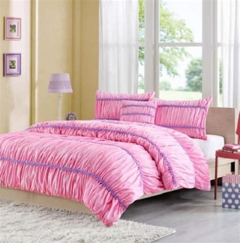 purple and pink comforter pretty pink purple ruffled ruched