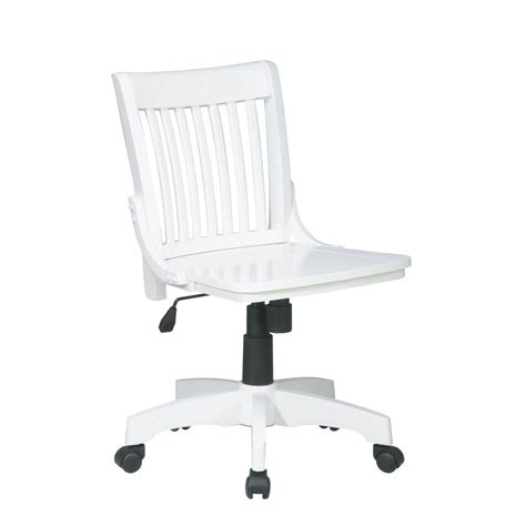 ospdesigns deluxe white wood bankers chair 101wht the