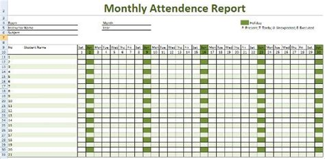 attendance tracking template   sample