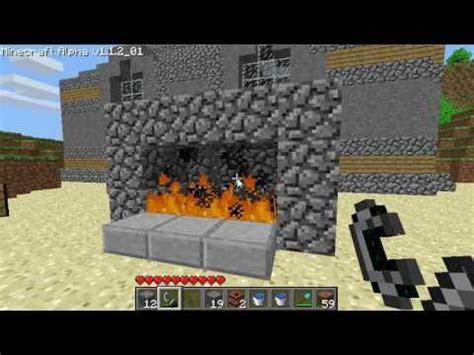 minecraft fireplace youtube