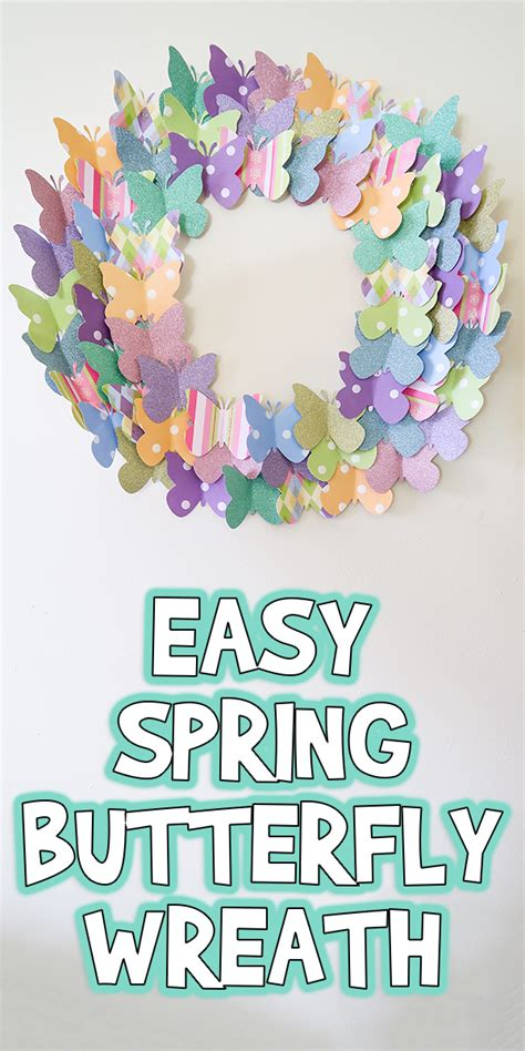 easy spring butterfly wreath woo jr kids activities