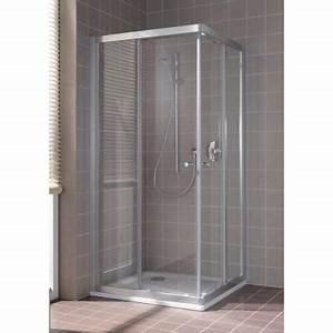 paroi de douche acces d39angle 1 porte coulissante modele With porte de douche cada