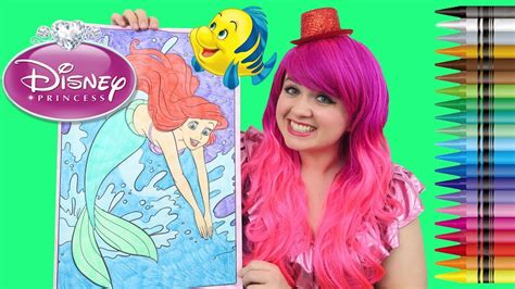 coloring ariel   mermaid giant coloring page