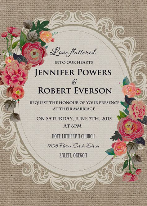 rustic bridal shower cheap vintage rustic roses wedding invitations ewi397 as