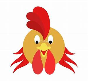 """""""Happy Rooster Face 2 Cartoon Character"""" by Gotcha29"""
