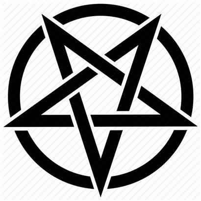 Satan Transparent Pentagram Star Satanic Devil Icon