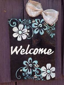 WELCOME plaque Sign Pallet Primitive Rustic Country Diy ...