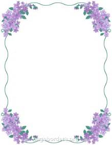 Lilac Page Borders Microsoft Word Templates
