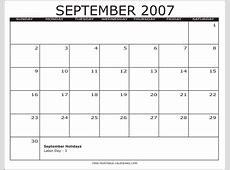 2007 Free Printable Calendars Free Printable Calendars