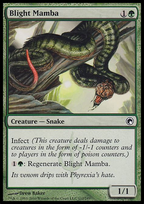 Infect Deck Mtg Legacy by Blight Mamba Creature Cards Mtg Salvation