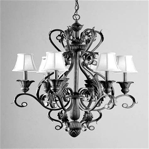 country wrought iron chandeliers