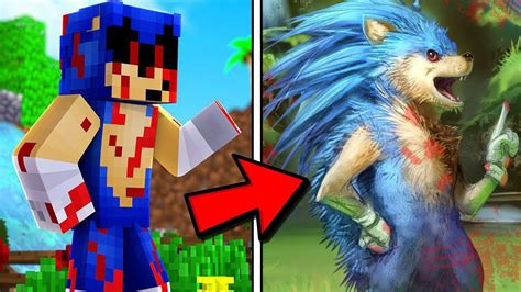 Real Life Sonicexe In Minecraft Youtube