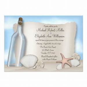 message from a bottle beach wedding invitations zazzle With beach wedding invitations in a bottle uk