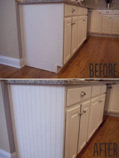 beadboard kitchen cabinets diy how to add beadboard to kitchen island she did this for 4375