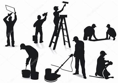 Artisans Painters Handwerker Maler Workers Bild Silhouettes