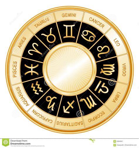 astrology wheel black background stock photography