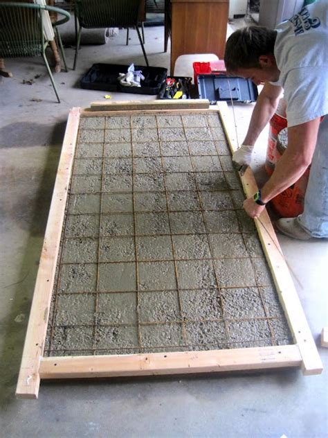 how to make a concrete table top building a concrete tabletop craft ideas pinterest