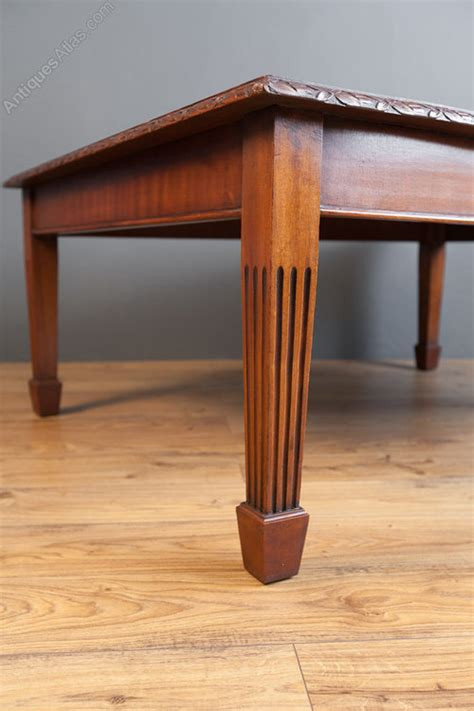 Large Solid Mahogany Coffee Table  Antiques Atlas