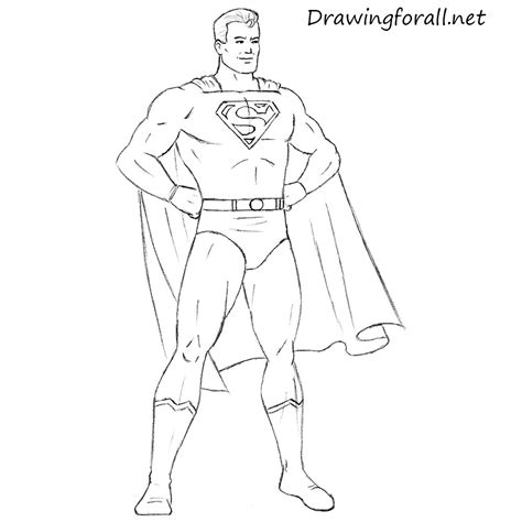 draw classic superman drawingforallnet