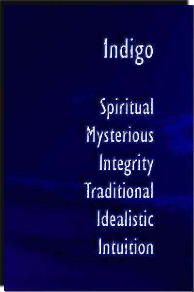 is indigo a color color indigo color psychology personality meaning