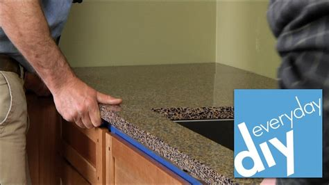 How To Replace Countertops by How To Install A Kitchen Countertop Buildipedia Diy