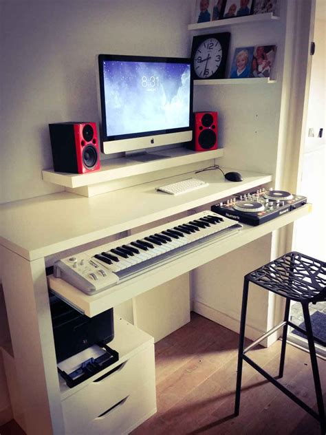 workplace desks standing work desk and dj booth ikea hackers