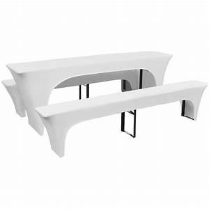Nappe Pour Table : acheter 3 nappe pour table de brasserie et bancs extensible blanc 70 cm pas cher ~ Teatrodelosmanantiales.com Idées de Décoration