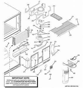 General Electric Wr02x11571 Bracket Evap Fan