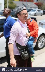 Robert Downey Jr arrives at Joel Silver's Memorial Day ...